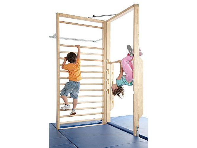 sprossenwand f r kinder kinderzimmer kindersport. Black Bedroom Furniture Sets. Home Design Ideas